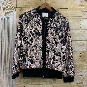 Urban Outfitters Silence + Noise Sequin Bomber